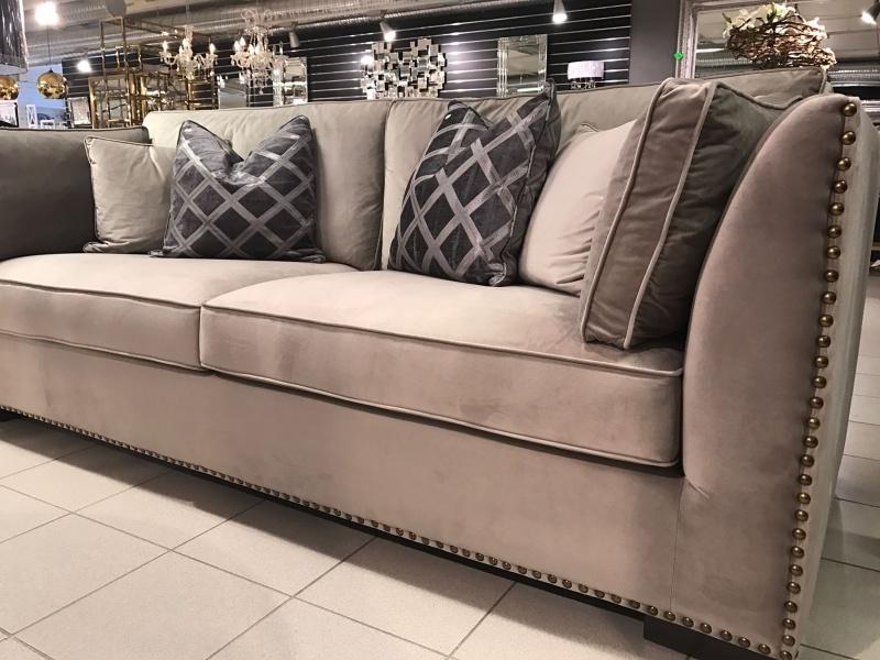 Sofa Manhattan-Beige velour - Elegante Hjem